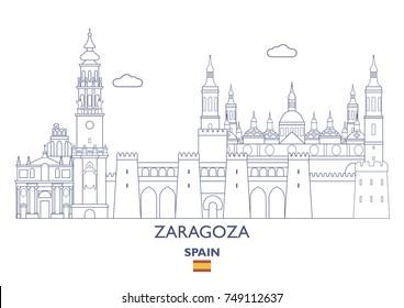 Zaragoza Linear City Skyline, Spain