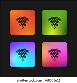 Zarape typical mexican clothes four color gradient app icon design
