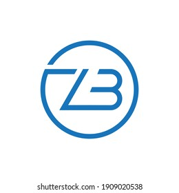 ZB Abstract Modern Letter Logo Design vector Illustration