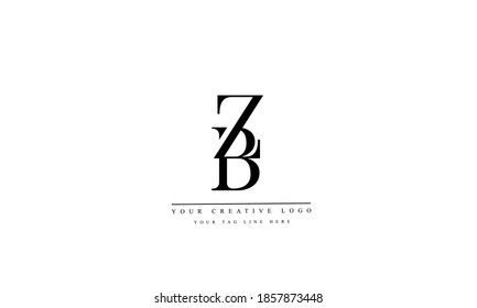 ZB BZ abstract vector logo  monogram template