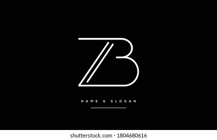 ZB ,BZ ,Z ,B  Abstract Letters Logo Monogram