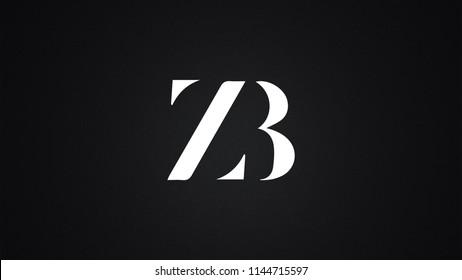 ZB Letter Logo Design Template Vector