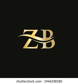 ZB Linked Logo for business and company identity. Creative Letter ZB Logo Vector with modern trendy