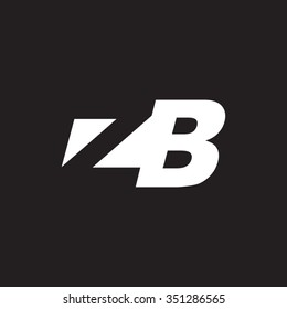 ZB negative space letter logo black background
