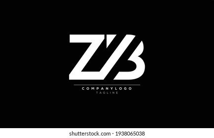 ZB Z AND B Abstract initial monogram letter alphabet logo design