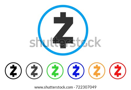 Zcash Icon Vector Illustration Style Is A Flat Iconic Symbol With Black Gray