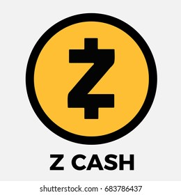 Zcash (ZEC) crypto currency icon for apps and websites. Zcash logo for web and print.