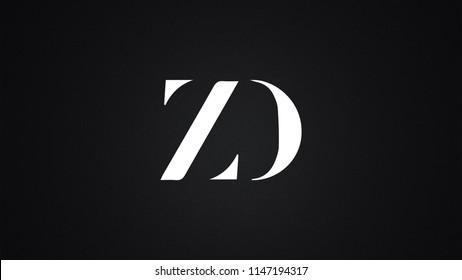 ZD Letter Logo Design Template Vector