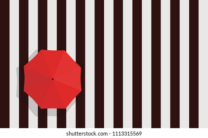 zebra crossing Crosswalk Street and Red Umbrella top view pattern Template Banner Poster texture illustration Vector Eps Background Wallpaper Sign Pedestrian crossing, asphalt road top view rain