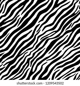 Zebra fur seamless vector pattern.