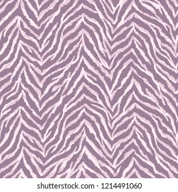 Zebra fur texture seamless pattern. Exotic wild animal background. Detailed hand-drawn vector illustration. Pastel-colored print.
