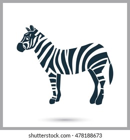 Zebra icon on the background