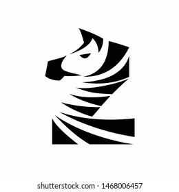 Zebra logo formed letter Z