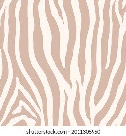 Zebra monochrome seamless pattern. Vector animal skin print. Fashion stylish organic texture.