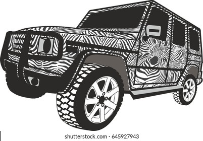 Zebra Offroad car
