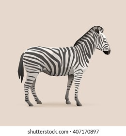 zebra polygon animal illustration vector