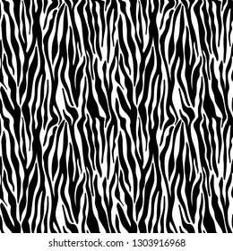 Zebra Print Seamless Pattern - Wild animal print pattern design