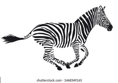 Cheval Fond Blanc Stock Vectors Images Vector Art