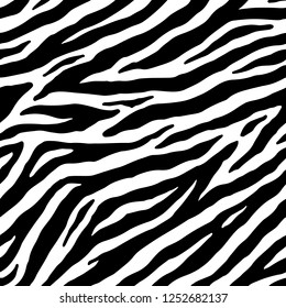Zebra seamless pattern. Vector skin print background
