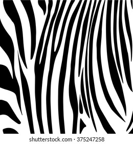 Zebra Stripes Pattern. Black stripes on white background. Digital illustration. Vector file with layers. Background for art, print, web, album, fashion, textile, holiday card design.