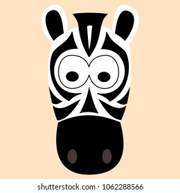 Zebra Vector Art, Zebra Illustration Vector Design, Zebra Art Print