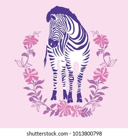 Zebra, vector, illustration. Cute animals