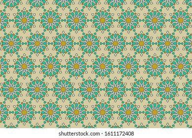 Zellige tile. Moroccan seamless pattern. mediterranean Islamic texture. vector illustration