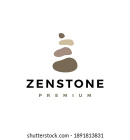 zen balancing stone logo vector icon illustration