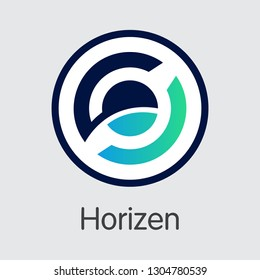 ZEN - Horizen. The Market Logo or Emblem of Cryptocurrency, Market Emblem, ICOs Coins and Tokens Icon.