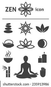 Zen icon. Buddhism, zen philosophy