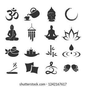 Zen icon set vector