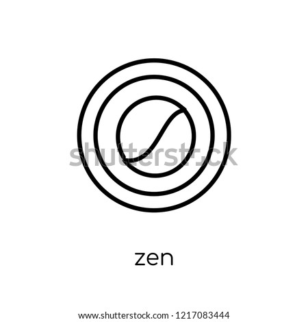 Zen Icon Trendy Modern Flat Linear Stock Vector Royalty Free