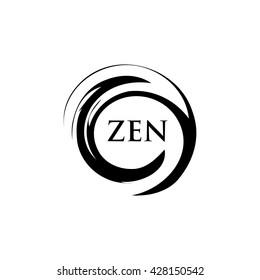 Zen Meditation Center. Circle brush symbol