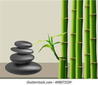 Zen pebbles balance. Spa and health care concept.