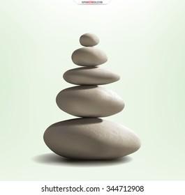 Zen stones . Realistic vector