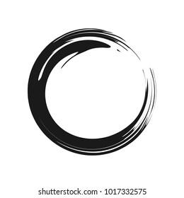 Zen Symbol Abstract Brush Vector Graphic Design