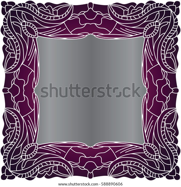 Zentangle abstract flowers.