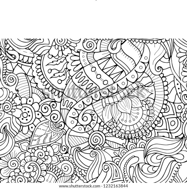 Zentangle Coloring Book Page Abstract Floral Stock Vector ...