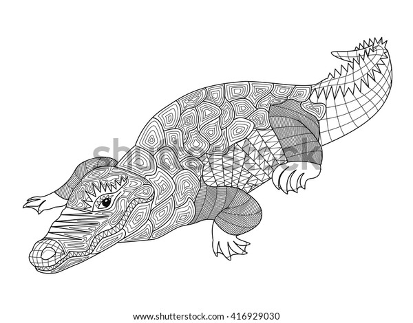 Printable crocodile coloring page. Free PDF download at http ... | 470x600