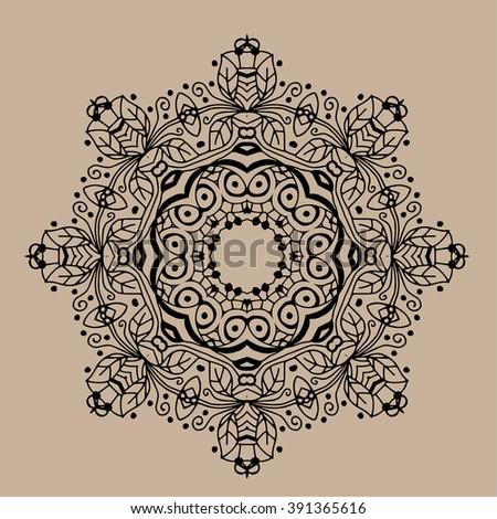 Zentangle Mandala Coloring Book Page Adults Stock Vector Royalty