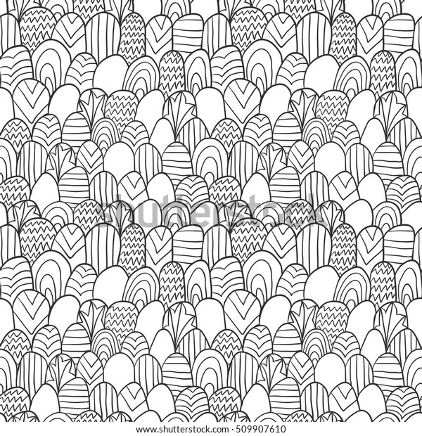 Zentangle Pattern Fabric Pattern Simple Zentangle Stock