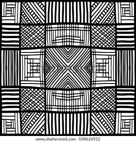 Zentangle Pattern Squares Pattern Simple Zentangle Stock Vector Adorable Zentangle Patterns Easy