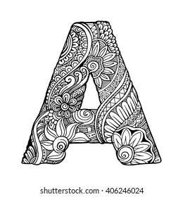 zentangle letters images stock photos vectors shutterstock