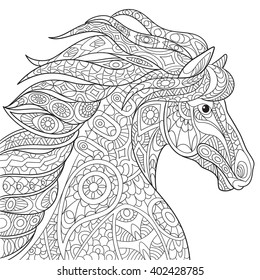 Horse Coloring Page Images Stock Photos Vectors