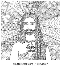 Jesus Coloring Book Images, Stock Photos & Vectors ...
