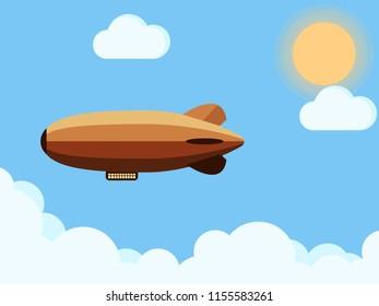 Zeppelin flat design.vector