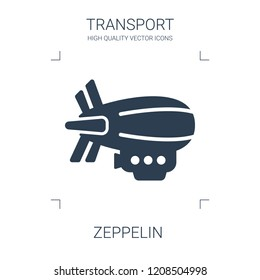 zeppelin icon. high quality filled zeppelin icon on white background. from transport collection flat trendy vector zeppelin symbol. use for web and mobile