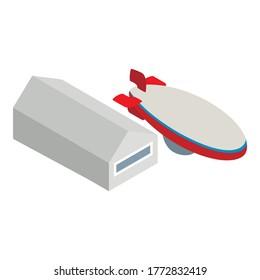 Zeppelin icon. Isometric illustration of zeppelin vector icon for web