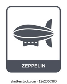 zeppelin icon vector on white background, zeppelin trendy filled icons from Transportation collection, zeppelin simple element illustration
