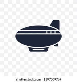 Zeppelin transparent icon. Zeppelin symbol design from Transportation collection.